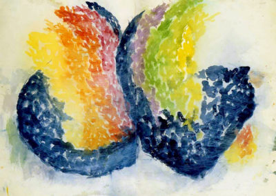 Rainbow Wings (1966)<br>watercolor on paper, 22 x 30 inches
