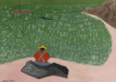 Raymond's Beach (1944)<br>oil on canvas, 27.75 x 35.75 inches