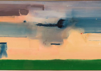 Heading Southwest (1988)<br>acrylic on canvas, 71 x 129 inches