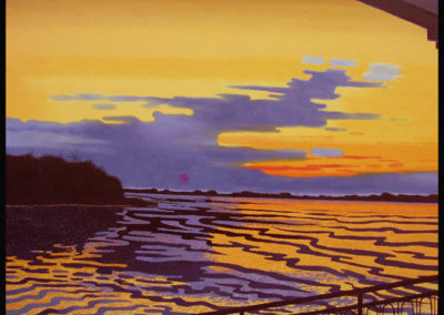 An Evening Aboard the Mississippi Queen (2008)<br>oil on canvas, 35 x 41 inches
