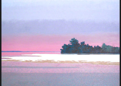 Sandbar South of Baton Rouge (2010)<br>oil on canvas, 35 x 41 inches