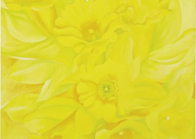 Yellow Jonquils IV (1936)<br>oil on canvas, 40 x 36 inches