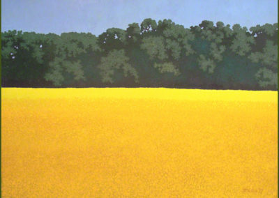 Yellowing Season On the Trace (2012)<br>watercolor & acrylic on paper, 30 x 38 inches